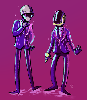 Daft punk by Eri-Yo