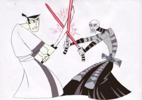 Samurai Jack vs Asajj Ventress by mpcp13