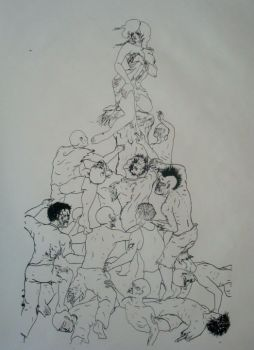 zombie pile line work by gbcink