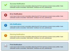 CSS NOTIFICATION BOXES by FreePSDDownload