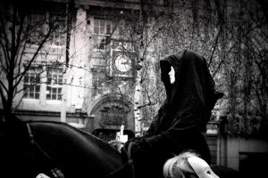 Lady Death in a horse by EidanNoon