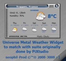 UniverseMetal Weather Widget by neophil