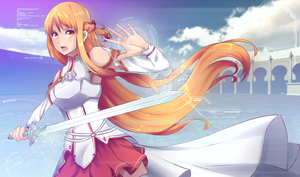 SAO Asuna fanart+Wallpaper+Speed painting by Ripurei
