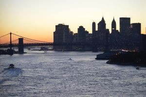 A View Down The East River by Brooklyn47