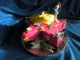 Snow white cake by cake-engineering