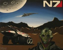 Mass Effect Painting - N7 [Fan Art] by LethalChris