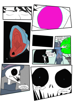 Gustavo: Haunted Library OC Tournament: Page4 by NosTheMerc