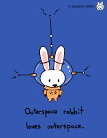 Outerspace Rabbit by sebreg