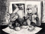 Humphrey And Hubert's Tea Party by La-Chapeliere-Folle