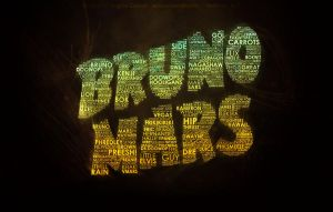 Bruno Mars Typography by Echosei