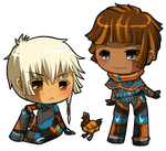 Chibi Alyster Crawford and Melodeey by Misical