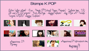 Stamps Kpop by akumasama17