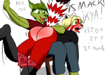 Dragonglare Spanks Mob by the-killer-wc