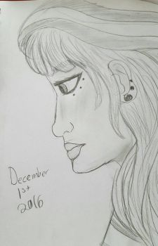 Profile View Girl by miacooljay