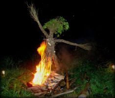 The burning of the wickerman by Estruda