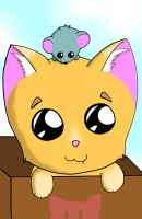 A Kitty and Mouse by CutenessMaximized