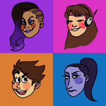 overwatch gals by keymayers