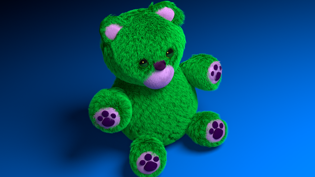 Green Teddy with more details by anaksamea
