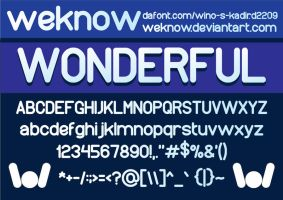 wonderfullfont by weknow