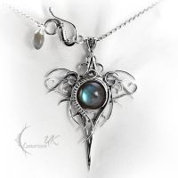 OZZAGIS - silver and labradorite by LUNARIEEN