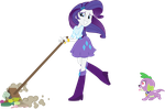 Equestria Girls Rarity Spike - Cleaning and love by JoeMasterPencil