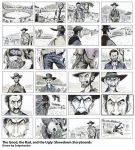 The Good, Bad, and the Ugly: Showdown Storyboards by Snipetracker