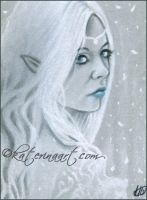 Elven Queen ACEO by Katerina-Art