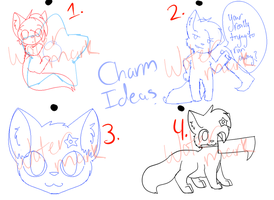 Charm Ideas! by KittenthePsycho