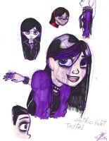 Gothic Violet sketches by Violet-the-Siberian