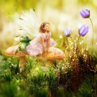 The Toadstool Faerie by GingerKellyStudio