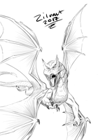 Dragon sketch Daily draw 0008 by zilvart