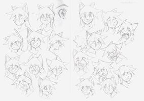 Expression Sketches by MoeAlmighty