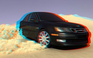 Saab anaglyph by capsat