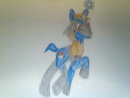 Lucario ponyfied by TeslaSong