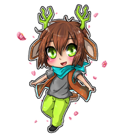 Chibi Deer boy- Lime by TropicalSnowflake