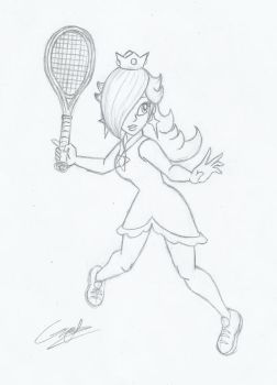 Rosalina tennis player 2 (another sketch) by MileenaKoopa