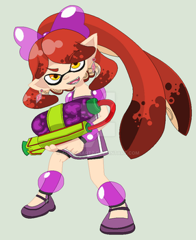 You're a demon, now you're a squid! by AuroraArtz