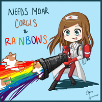 Needs Moar Corgis and Rainbows by MissCinnabun