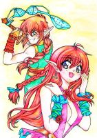 Kaily y Heian by RosaKiddy