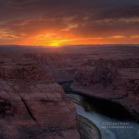 Horseshoe Bend Sunset - Square by Karl-B
