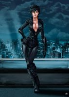 Another Catwoman.. without hood. by Madboy-Art