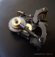 steampunk tattoo machine by vangoghtattoo