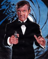 Roger Moore - James Bond 007 by smjblessing
