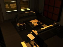 2nd 3D room sunrise 1 by JakeGreen