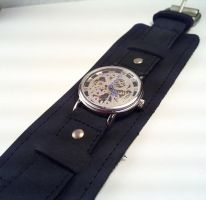 Steampunk Wristwatch by SteamDesigns