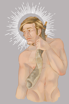 Gabriel of the Golden Hair by oleanderhawkmoth