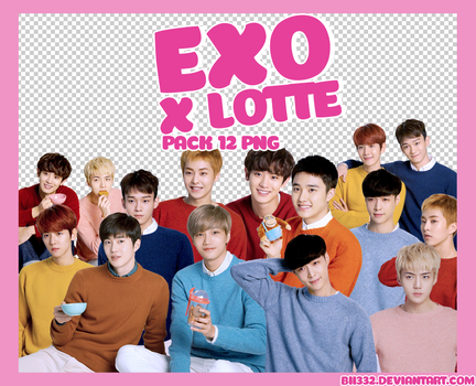 [PNG PACK] #002: EXO x LOTTE by Bii332