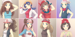 Pokegirls by naobhalchemoro