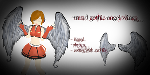 mmd gothic angel wings by Tehrainbowllama