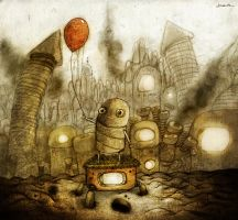 machinarium fan art by berkozturk